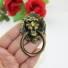10pcs 4Color Vintage Lion Head Cabinet Pulls Knobs Handles Handle Knob Ring Antique Furniture Furniture Door Cabinet Drawer Pull yellow brass chinese vintage lion head furniture door pull handle 190 260mm