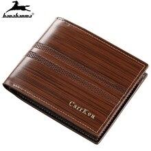 men's wallets short Three fold small man wallet mini clutch mens  natural leather erkek cuzdan carteiras purse man's money bag
