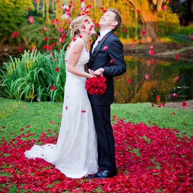 100PCS/Bag 5*5CM Silk Rose Petals for Wedding Decoration Romantic Artificial Rose Flower 40Colors Wedding Accessories 4