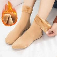 Socks Girls Winter for Ladies Leg-Warmer 1-Pair Velvet Seamless Thicken Solid-Color Women