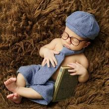 Лидер продаж; реквизит для фотосессии для новорожденных; комплект джентльмена для маленьких мальчиков; костюм для студийной фотосессии; APR13