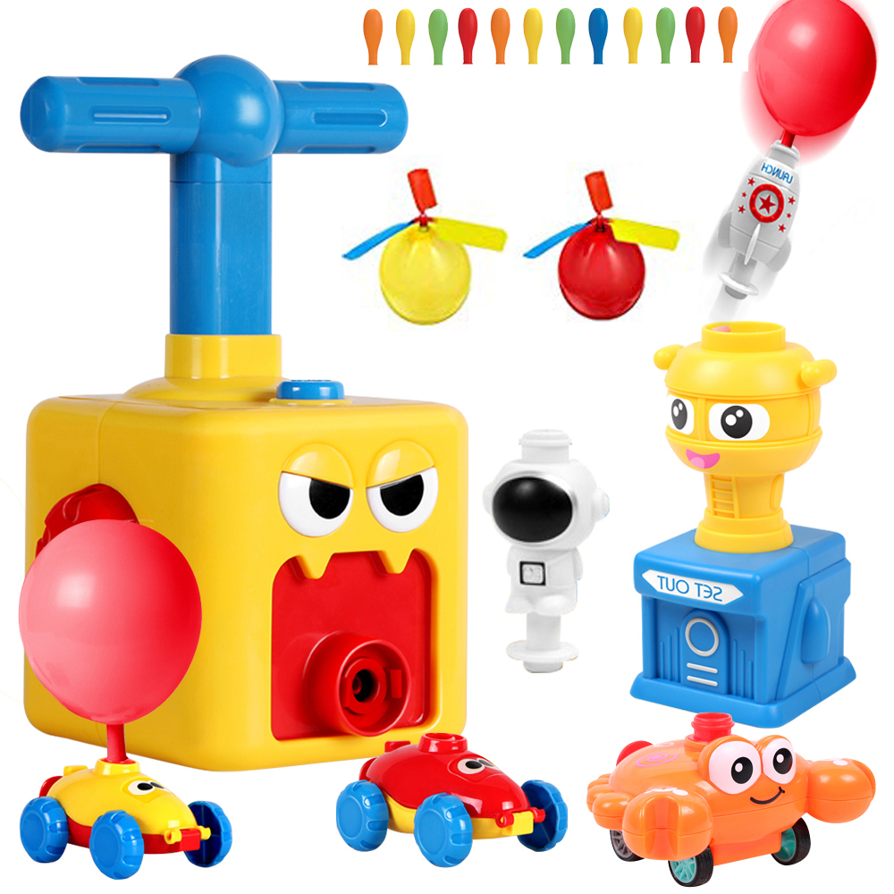 Toy Balloon-Cars Puzzle Birthday-Gift Air-Inertial-Power Christmas-Party Education Kids