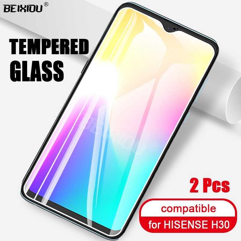 2 Pcs Penuh Tempered Glass untuk Hisense H30 Pelindung Layar 2.5D 9 H Tempered Glass untuk Hisense H30 Film Pelindung