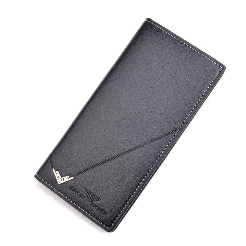 Для мужчин длинный бумажник светильник тонкий портмоне с отделениями для кредитных держатель для карт большой Ёмкость зажим для денег Коше...