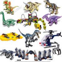 2019 New Jurassic World Park T Rex Baryonyx Dinosaur Figures Dino Building Blocks Bricks With Toys Boys
