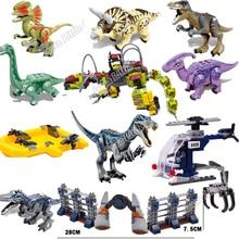 2019 nuevas figuras de dinosaurio Jurassic World Park T Rex Baryonyx figuras de bloques de construcción de dinosaurio compatibles con Legoinglys juguetes niños