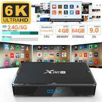 X96H 2019 Più Nuovo TV Box 2GB 16GB 6K Smart Set Top Box 4GB + 32GB /64GB Dual Wifi Bluetooth Smart TV Box Android 9.0 VS X96 HK1 H96