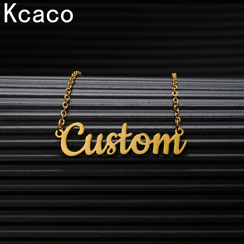 Customized Stainless Steel Necklace More Font Chain Nameplate Personalized Necklaces Jewelry Made by Factory Droppshiping Customized Necklaces  - AliExpress