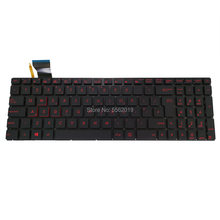 Ovy uk Клавиатура с подсветкой для asus rog gl552 gl552jx gl552vl