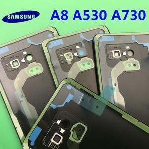 Image 5 - Ersatz Original Hinten Panel Batterie Glas Zurück Tür Abdeckung Für Samsung Galaxy A8 A8plus 2018 A530 A530F A730 A730F + werkzeug
