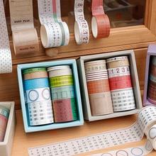 Masking-Tape Journal Scrapbooking Stickers 10pcs/Set Planners Decor Office-Supply Diy