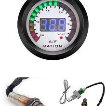 Цифровой 52 мм автоматический измеритель соотношения воздуха и топлива + вольтметр Индикатор Копченый с более узким диапазоном кислородног...