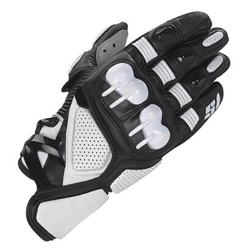 Alpines S1 Racing Glove Motorcycle ATV Bike Off-road Street Moto Black White Leather Gloves
