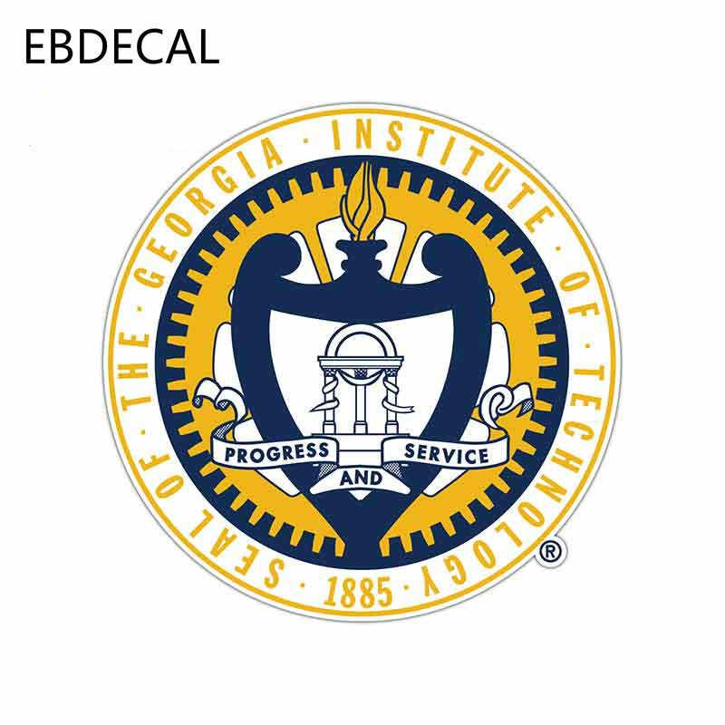 EBdecal ジョージアテックイエロージャケッツグラフィックバンパーウィンドウ壁スーツケースデカール DIY 装飾 CT8215