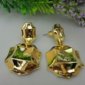Image 5 - Yuminglai pendientes brasileños de oro de Dubái para mujer, 24K, FHK7977