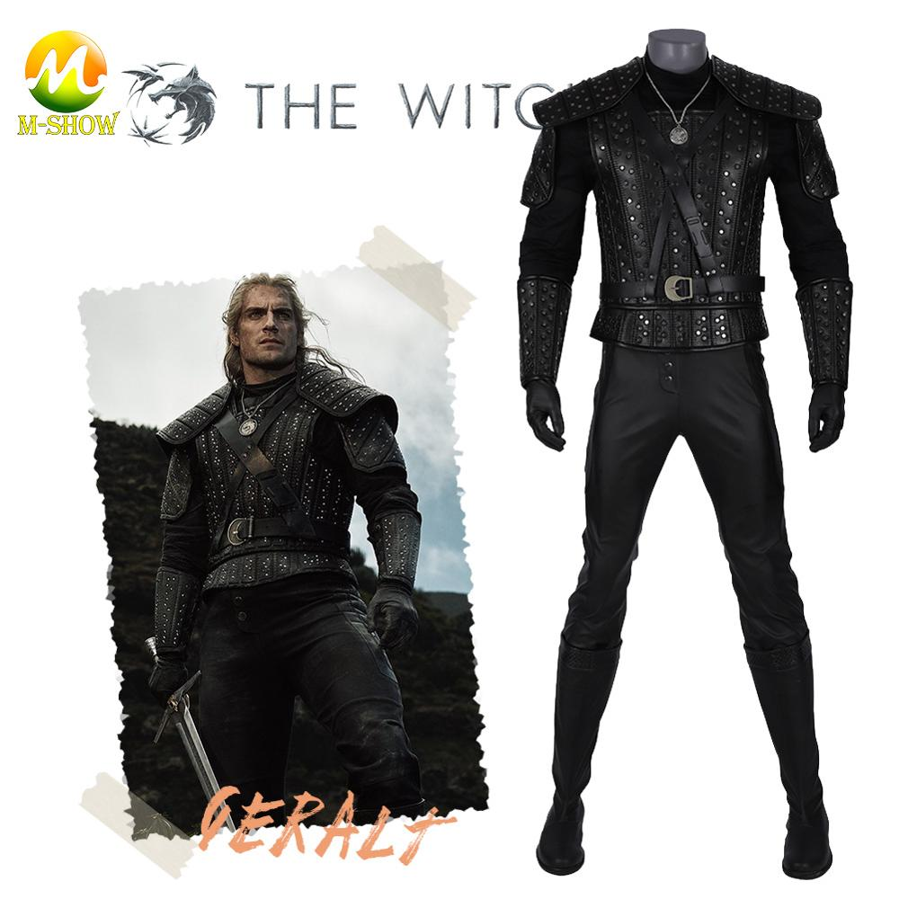 The Witcher 3 Wild Hunt Cosplay costume accessoires The Witcher Geralt de Rivia Cosplay cuir costume pantalon bottes pour Halloween