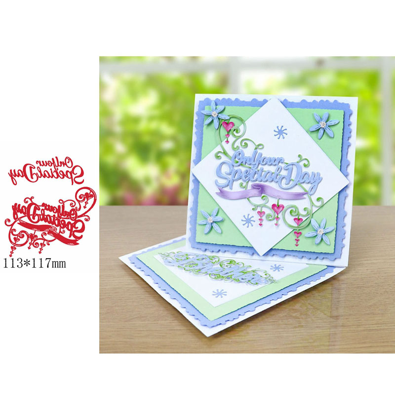 On Your Special day romantic Phrase Metal Cutting Dies cut die for DIY Scrapbooking Crafts new 2019 Embossing Die Cuts