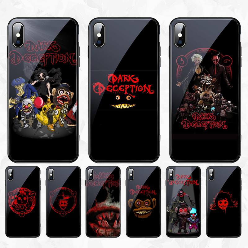 CUTEWANAN Horror Spiel Dark Deception Luxus Telefon Fall Gehärtetes Glas Für <font><b>iPhone</b></font> 11 Pro XR XS MAX 8X7 6S 6 Plus SE 2020 fall image