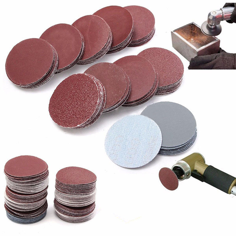 100pcs 2 Inch 50mm Sander Disc 80-3000 Grit Sanding Polishing Pad Sandpaper Tool Hook And Ring Polishing Disc Polishing