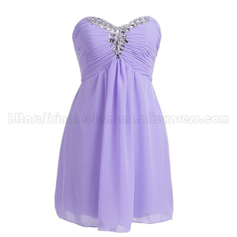 Usine vraie photo lilas en mousseline de soie courte robes de demoiselle d'honneur robe de mariée pour Junior