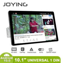 JOYING Radio Pantalla 1 din Android 10 Multimedia Player Kopf Einheit 4GB 64GB Carplay Android Auto 4G HD Bildschirm Optische Ausgang OBD