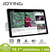 Rádio joying pantalla 1 din android 10 unidade principal do jogador multimídia 4gb 64gb carplay android auto 4g hd tela de saída óptica obd