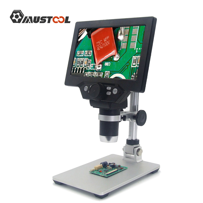 MUSTOOL G1200 1200X Digital Microscope Electronic Video Microscope 7inch LCD 12MP Solder Phone Repair Magnifier Built-in Battery
