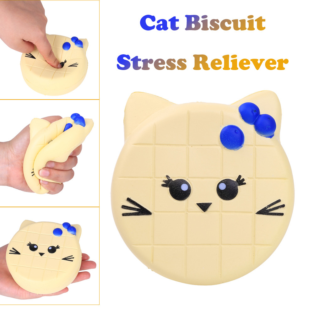 New 2020 Cat Face Design Cat Toy Catnip Cookie Cat Squeeze Relieve Stress Toy  Antistress For Hands Toys For Children L1218