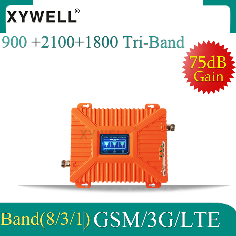900/1800/2100 Tri-Band Cell Phone Booster GSM DCS LTE 2G 4G Cellular Amplifier GSM Repeater 2G 3G 4G Cellular Signal Repeater