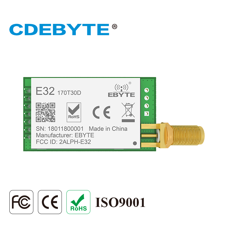 Ebyte E32-170T30D SX1278 UART 170MHz 30dBm 1W LoRa Module Long Range DIP IoT Transceiver