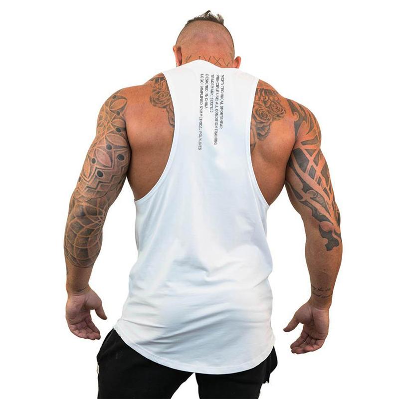 MEIHAOWEI Bodybuilding Canotta T-Shirt da Uomo Fitness Canotta Senza Maniche Cotone Allenamento Stringer Canotta Casual Top