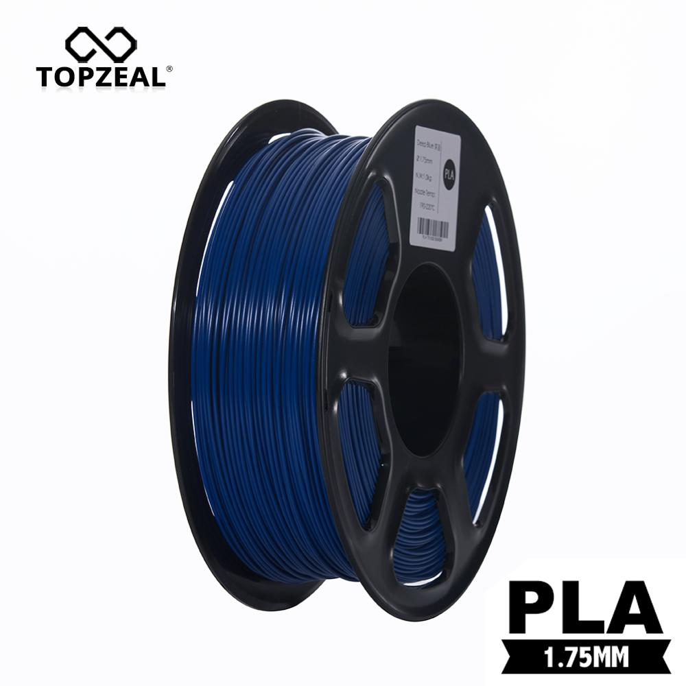 TOPZEAL Dark Blue 3D Printer Filament 1.75mm 1KG 2.20LBS Spool Dimensional Accuracy +/- 0.02mm 3D Printing Materials Supplies