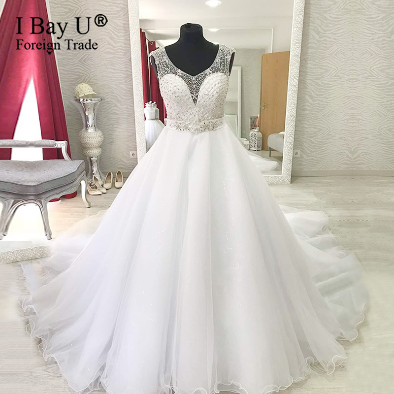 Luxury Beading Wedding Dress 2020 White Bridal Gown Wedding Gown New Bridal Dress Novias