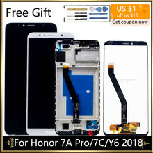 Getest Display Voor Huawei Honor 7C Lcd Y6 2018 Lcd Y6 Prime 2018 Lcd-scherm Met Touch Screen Montage honor 7A Pro Lcd(China)