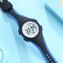Ohsen crianças esporte relógios 50 m à prova dwaterproof água azul silicone relógio de pulso eletrônico cronômetro digital para meninos meninas