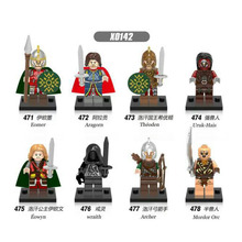X0142 Super Heroes Lord of the Rings Eomer Theoden Archer Mordor Orc Eowyn Wraith Figures Building Blocks forChildren Toys DIY lord of the rings corps witch king ringwraith king of the dead army mordor action figure building blocks children legoing toys