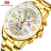Luxury 2020นาฬิกาผู้ชายChronographมัลติฟังก์ชั่น6มือ3 DialsเงินเงินMINI FOCUSนาฬิกาข้อมือ