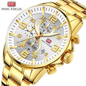 Relojes de lujo para hombre, cronógrafo multifunción, 6 manos, 3 esferas, plateado, MINI enfoque, 2020