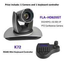 3D Джойстик с мини клавиатурой, контроллер 20X Zoom SDI DVI IP PTZ вещания, конференц камера для vMix / Blackmagic Design