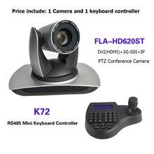 3D Joy Stick Mini Keyboard Controller 20X Zoom SDI DVI IP PTZ Broadcast Conference Camera for vMix / Blackmagic Design
