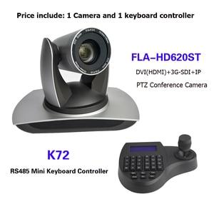 Image 1 - 3D joystick Mini klavye denetleyicisi 20X Zoom SDI DVI IP PTZ yayın konferans kamerası için vMix / Blackmagic Design
