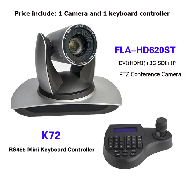 3D joystick Mini klavye denetleyicisi 20X Zoom SDI DVI IP PTZ yayın konferans kamerası için vMix / Blackmagic Design