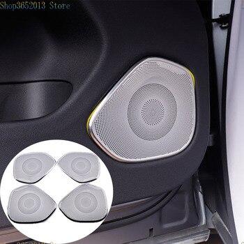 Аксессуары для стайлинга автомобилей 4 шт. для Volvo XC60 2018-2020 из нержавеющей стали аудио динамик двери автомобиля громкоговоритель обшивки обл...