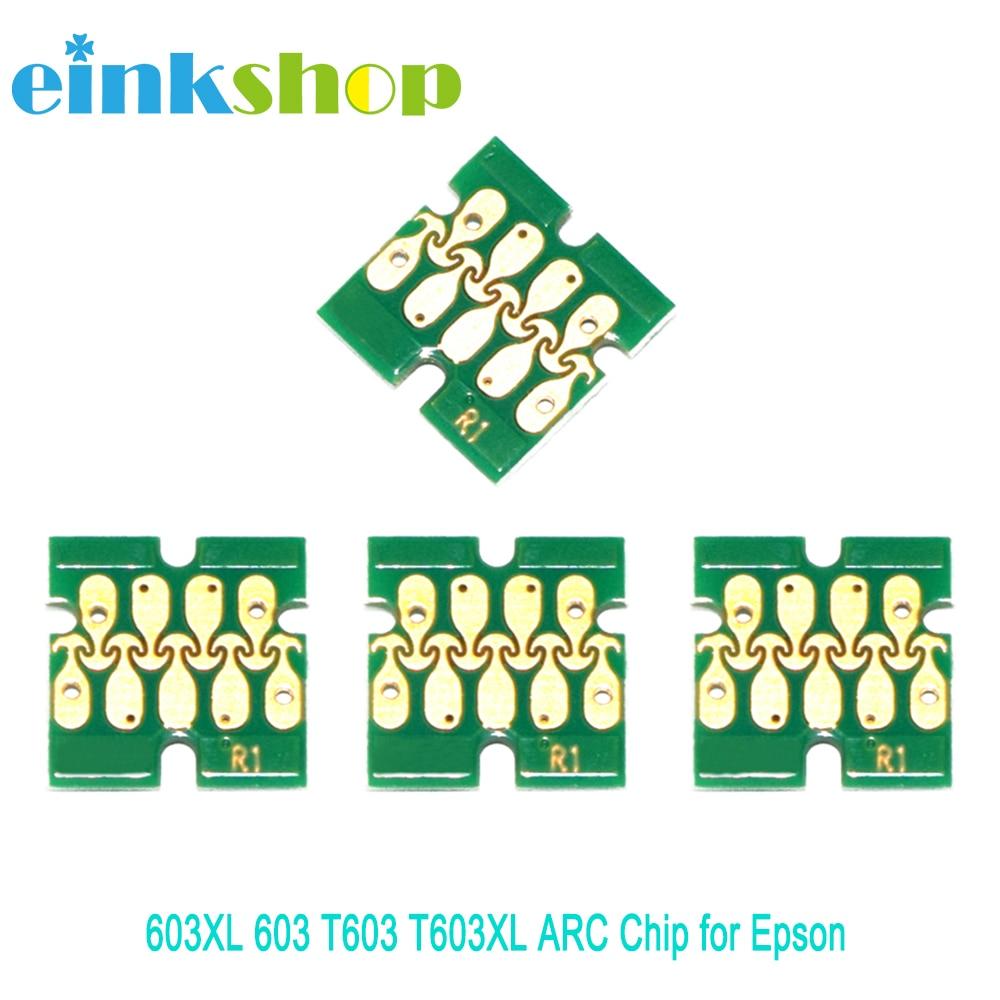 Einkshop 603XL 603 T603 T603XL ARC Chip for Epson XP-2100 XP-2105 XP-3100 XP-3105 XP-4100 XP-4105 WF-2810 WF-2830 WF-2850
