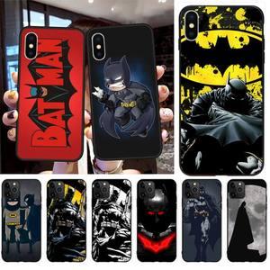 HPCHCJHM Hot Batman Black TPU Soft Rubber Phone Cover for iPhone 11 pro XS MAX 8 7 6 6S Plus X 5S SE 2020 XR case