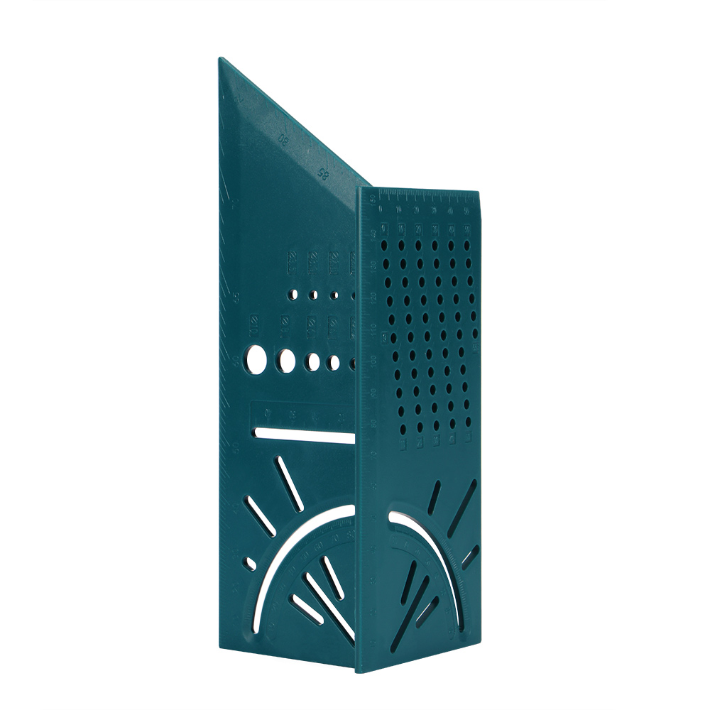 Деревообрабатывающий Scribe Mark Line Gauge Т-образная линейка квадратный макет Miter 90 градусов измерительный прибор плотник - Цвет: Dark Green