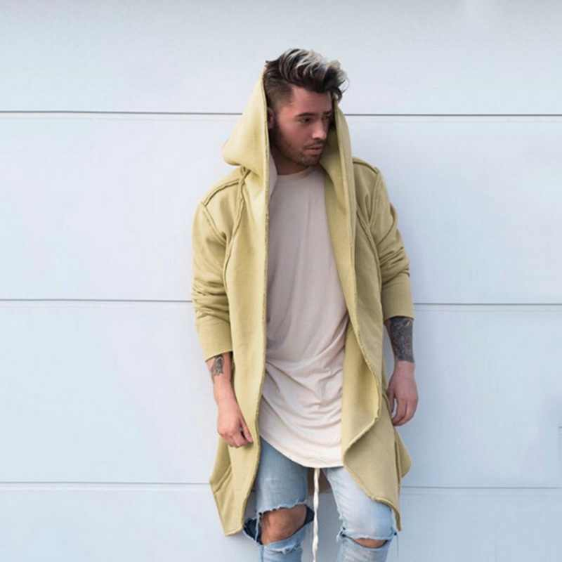 Litthing 2019 hombres sudaderas con capucha negro Hip Hop Mantle Hoodies chaqueta de moda de abrigo de manga larga Hombre abrigo caliente venta