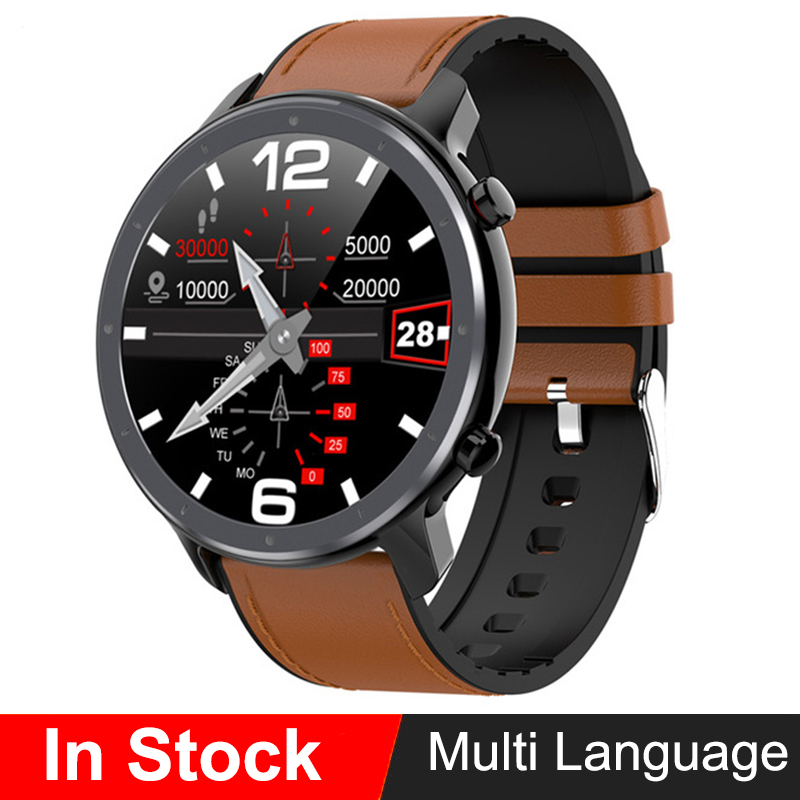 Smart Watch Men ECG+PPG Heart Rate Blood Pressure Monitor IP68 Waterproof Weather GTR <font><b>Smartwatch</b></font> GT2 for Xiaomi Amazfit Huawei image