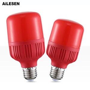 AiLESEN красная светодиодная лампа E27 лампа Светодиодная лампа 5 Вт 10 Вт 15 Вт лампа красная лампа фонарь для вечеринок лампа домашний декор Осве...