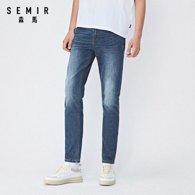 SEMIR Jeans men slim pencil pants men autumn new denim trousers fashion casual pants for man